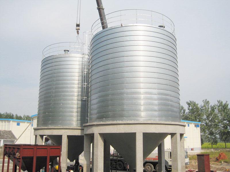 spiral steel silo for cement storage solution