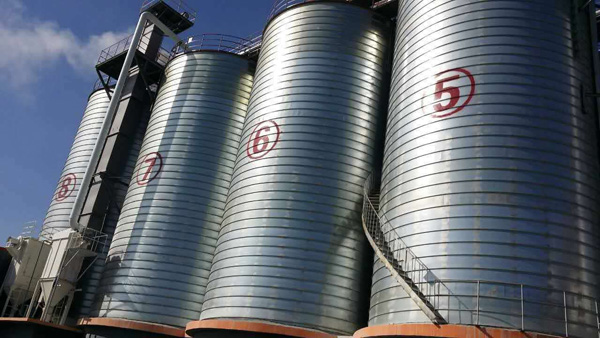 galvanized double side steel silo for   cement fly ash grain storage