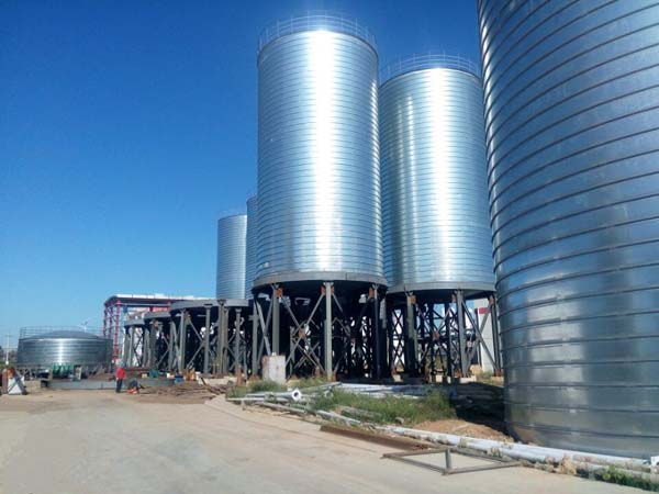 Steel Silo Project For 880 Ton Pyrophyllite Powder Storage