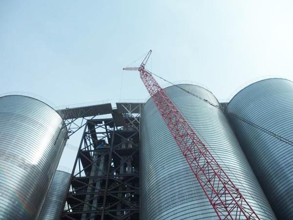Slag silo