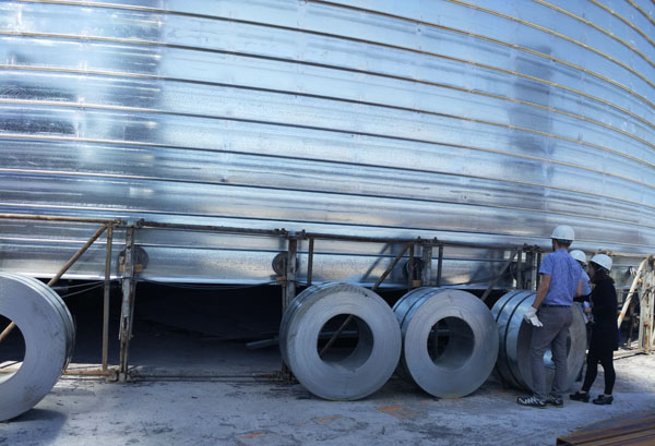 cement storage steel silo supplier with capacity 1000ton 3000ton 5000ton